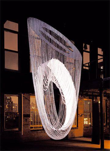 Outside unique chandelier plafon de cristal crystal plafond swarovski nest chandelier design by fuseproject aloadofball Gallery