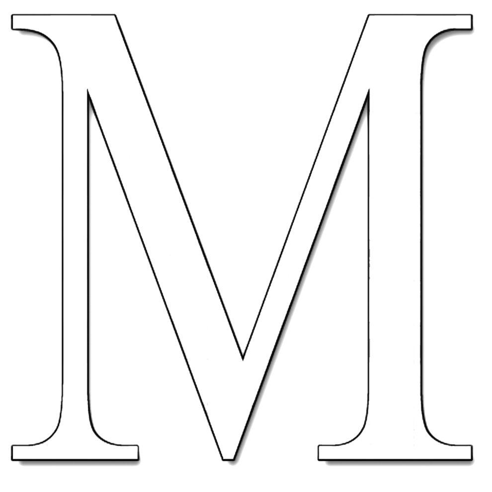 Lettere Di Lavoro: Stampa Disegno Di Lettera M Da