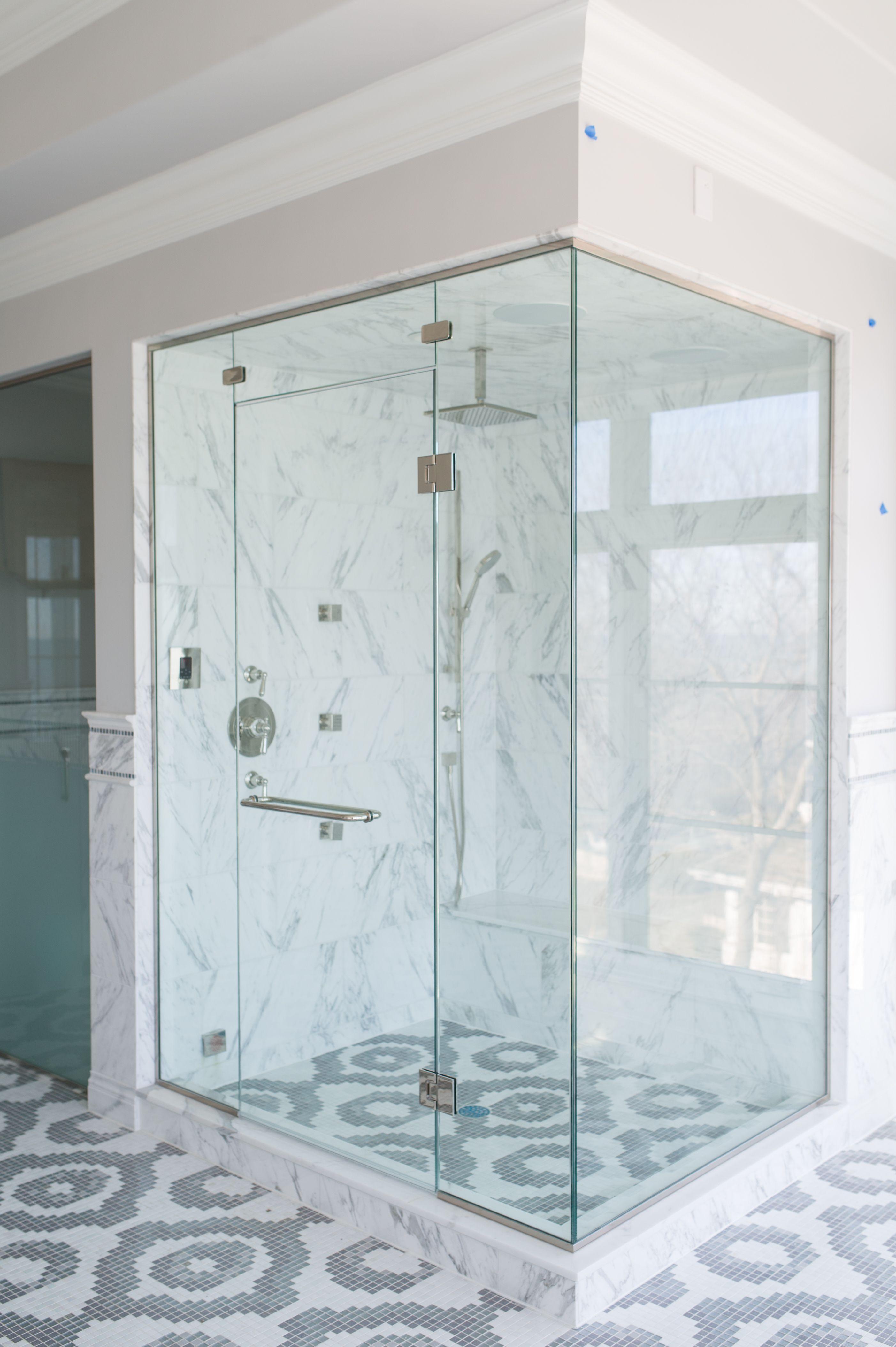 Frameless clear gl shower enclosure, configuration of door, 2 ... on