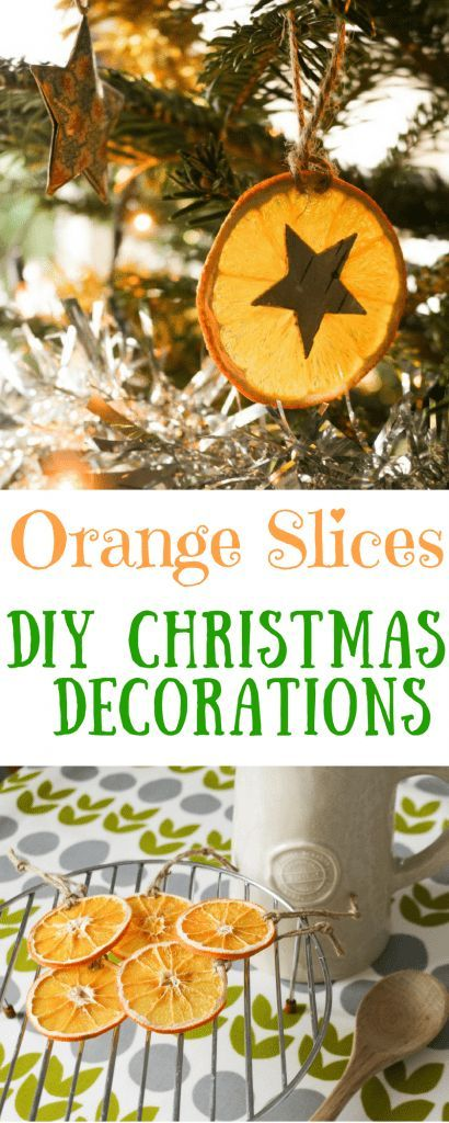 DIY Christmas Decorations from natural ingredients. Easy to Make handmade Dried Orange Slices Christmas Decorations. Nature Inspired Christmas Decorations #christmasdecorations #christmasdecor