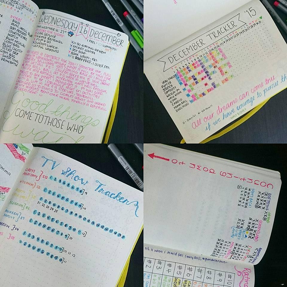 Tv show Tracker Bullet Journal Bullet journal writing