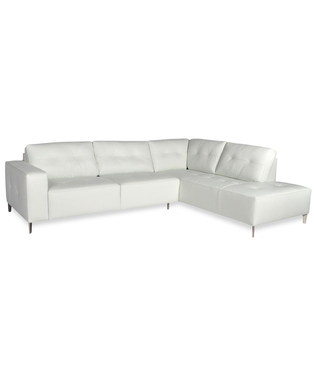Giada Leather Sectional Sofa Furniture Macy S Leather Sectional Sofa Leather Sectional Furniture