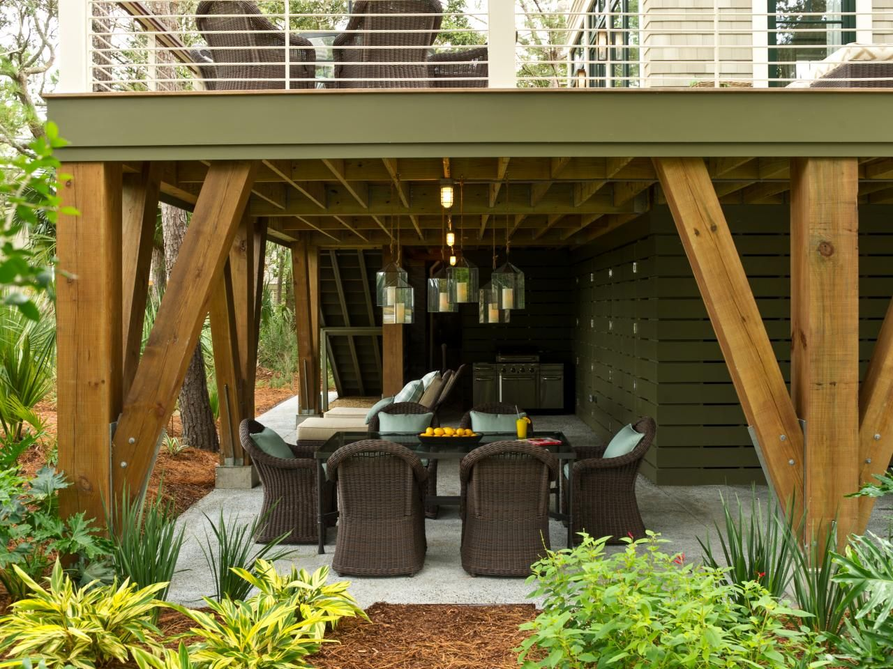 patio ideas under deck under deck patio ideas under deck ceilings retractable awnings opening roof designs - Patio Ideas Under Deck