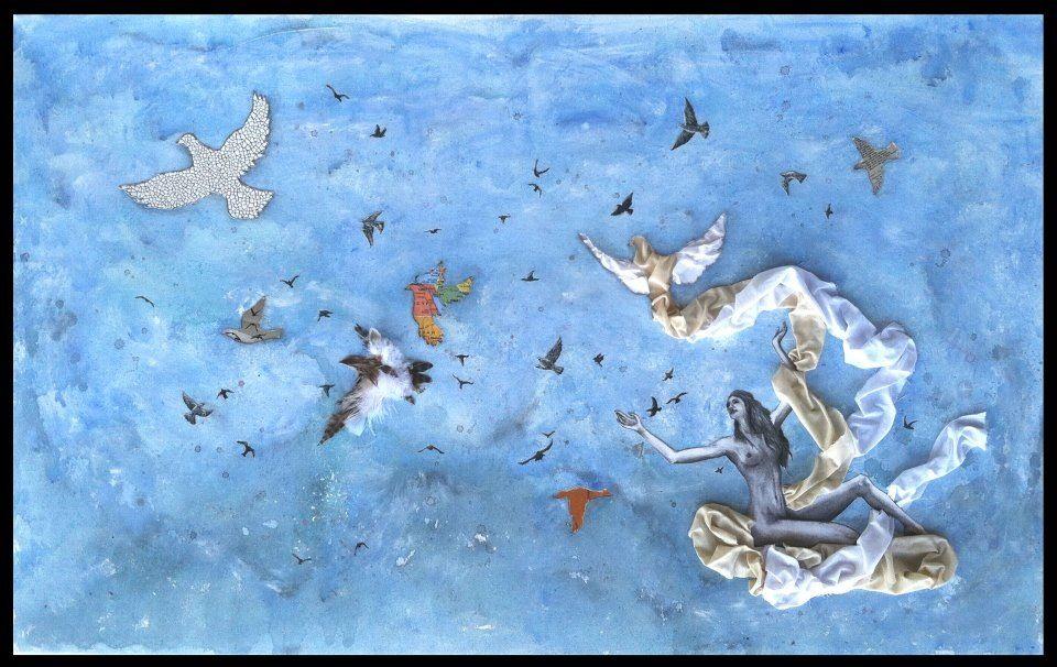 Like Doves From Assyria (mixed media, 2012)