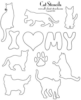 graphic relating to Printable Dog Stencils known as Simply click below for much more No cost Printable Stencils! Craft Suggestions
