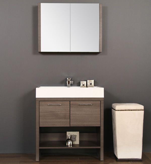 Veneto Bath   800L, Perfect Gray Walnut Wood
