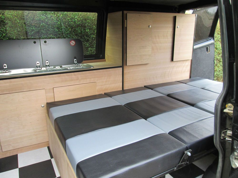 Vw T4 Transporter Camper Van Cupboard Units Interior Rock And Roll Bed T5 Shuttle Camper