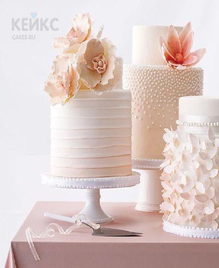 Торт с нежными цветами на юбилей женщине 50 лет | Tortas в ...