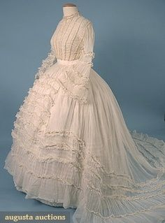 cw wedding dress 1860s, from civilwartalk.com Love the sheer!