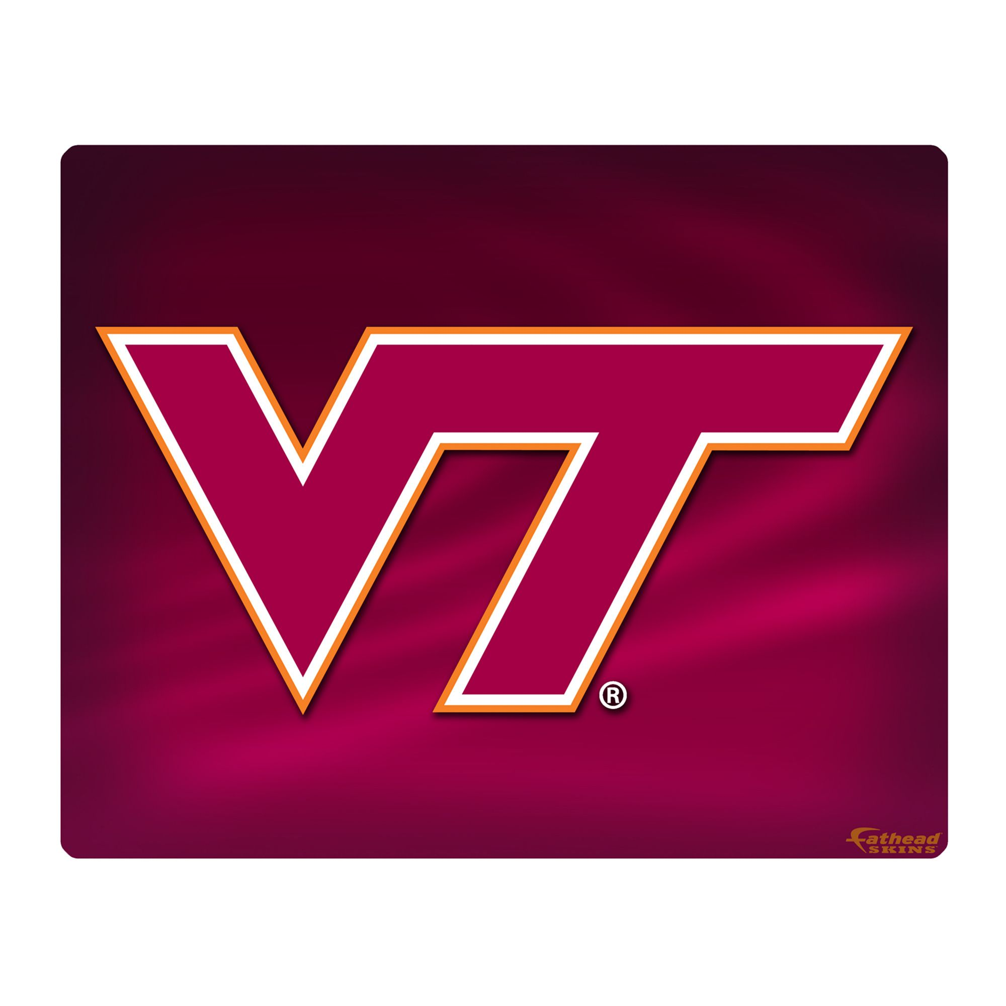 Virginia Tech Hokies Laptop Skin Fathead Only 25 bucks