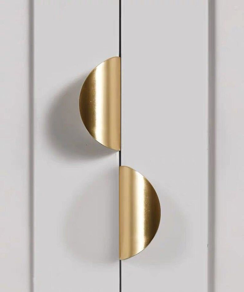 Brass Pull Handle Invisible Drawer Concealed Pull Handle Cabinet Door Pull Handle Nordic Flower Shaped Cabinet Pull Handle In 2020 Door Handle Design Door Pull Handles Door Pulls