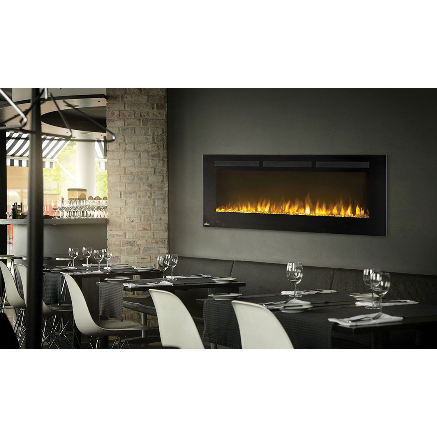 Napoleon Fireplaces Allure 50 Inch Electric Fireplace With Heater