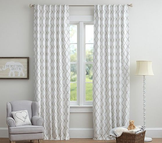 Addison Flocked Blackout Curtain Curtains Living Room