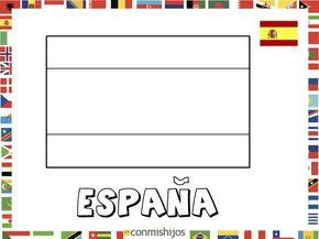Bandera De Espana Dibujos De Banderas Para Pintar Con Imagenes