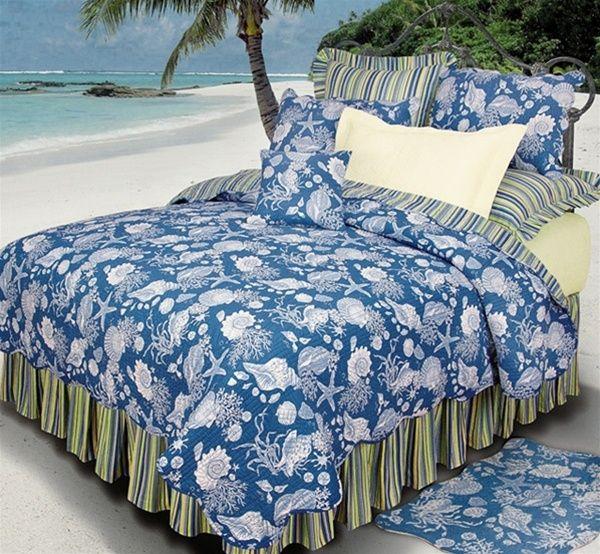 c u0026 f enterprises blue shells quilt set