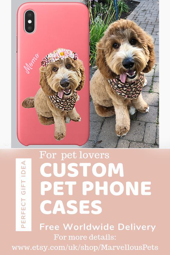 Custom Pet Illustration Iphone Or Samsung Case For Pet Owner In 2020 Pets Custom Pet Portraits Dog Gifts