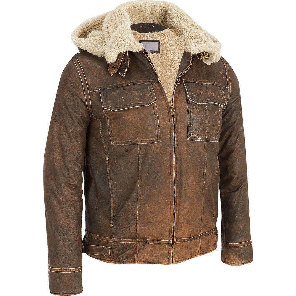 Men's Big & Tall Wilsons Vintage Leather Bomber Jacket w