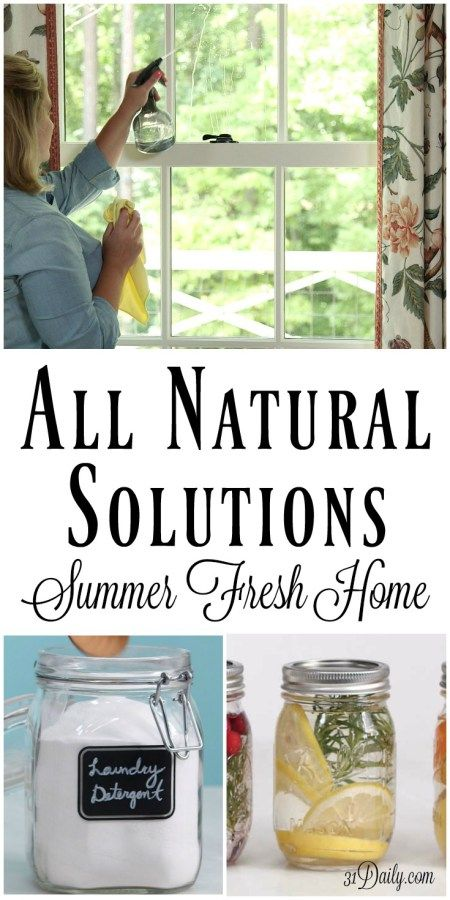 All Natural Solutions for a Summer Fresh Home