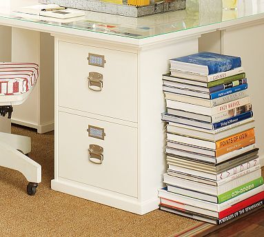 Bedford 2 Drawer File Cabinet Antique White Potterybarn