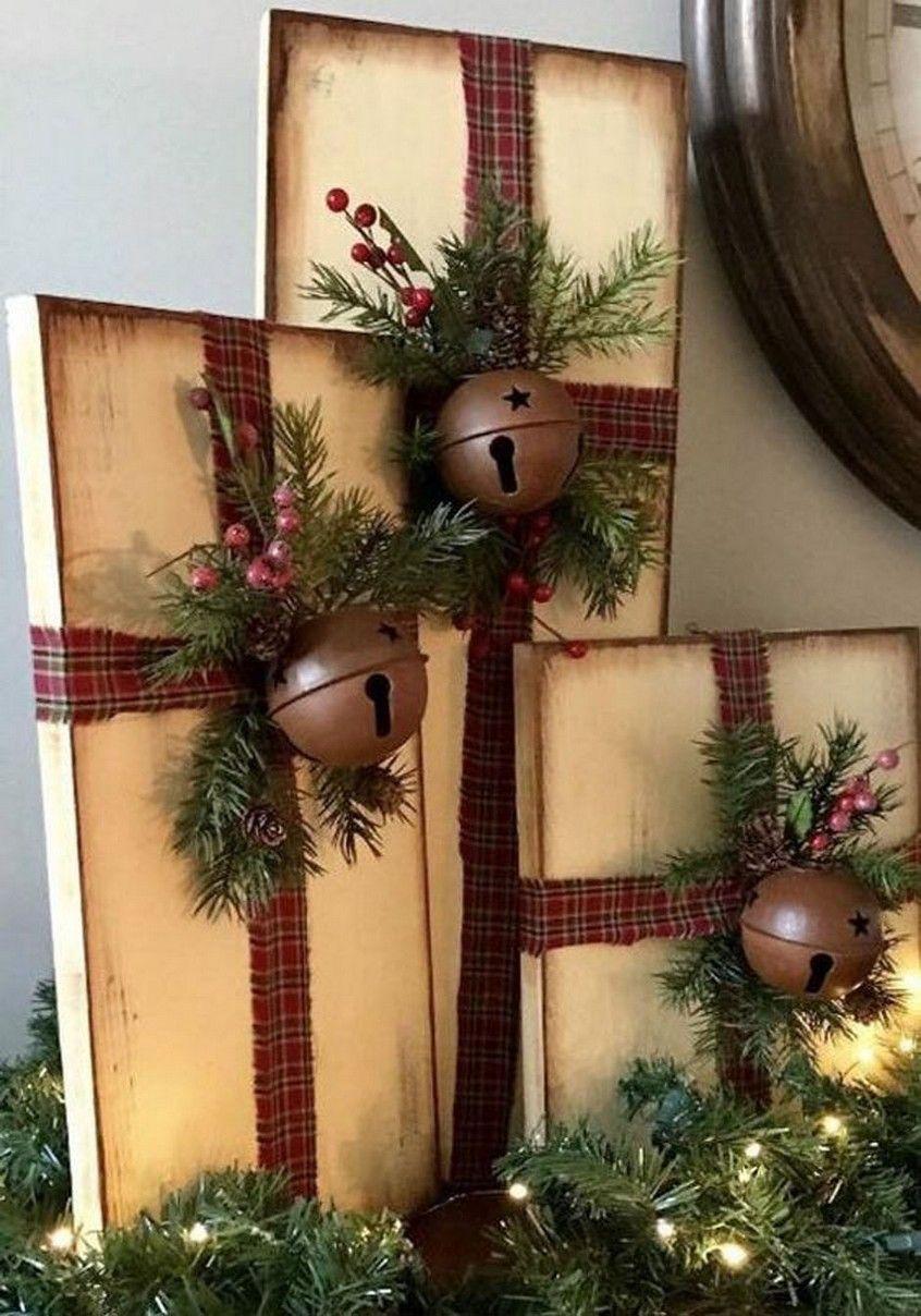 21 Handmade Rustic Farmhouse Inspired Ornaments 7 In 2020 Farmhouse Christmas Decor Farmhouse Christmas Outdoor Christmas Decorations