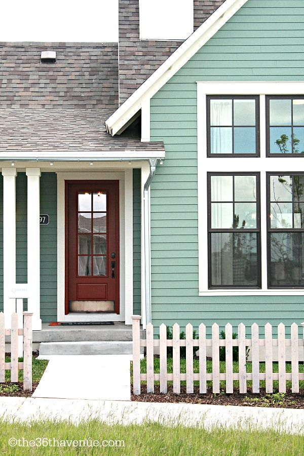 Home decor and design tips black window frames white trim and window frames - Exterior black paint ideas ...