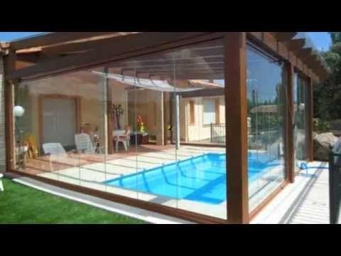 Cerramientos de cristal pergomadera cosas pinterest cristales piscinas y piscina cubierta - Cristales para piscinas ...