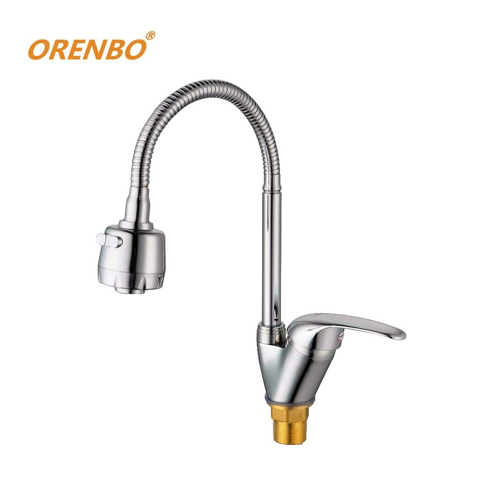 Orenbo Kitchen Faucet Universal Direction Mixer Cold And Hot