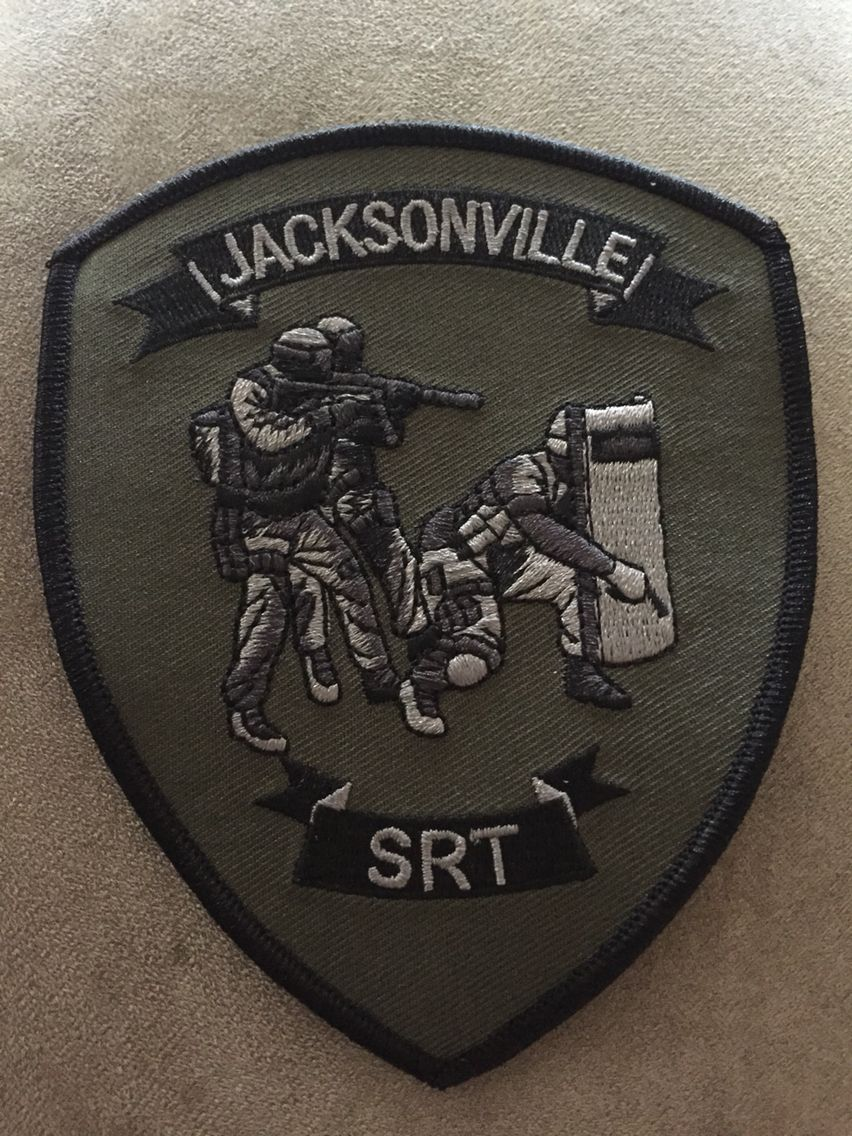 Jacksonville Pd Srt Police Patches Police Badge Police Force