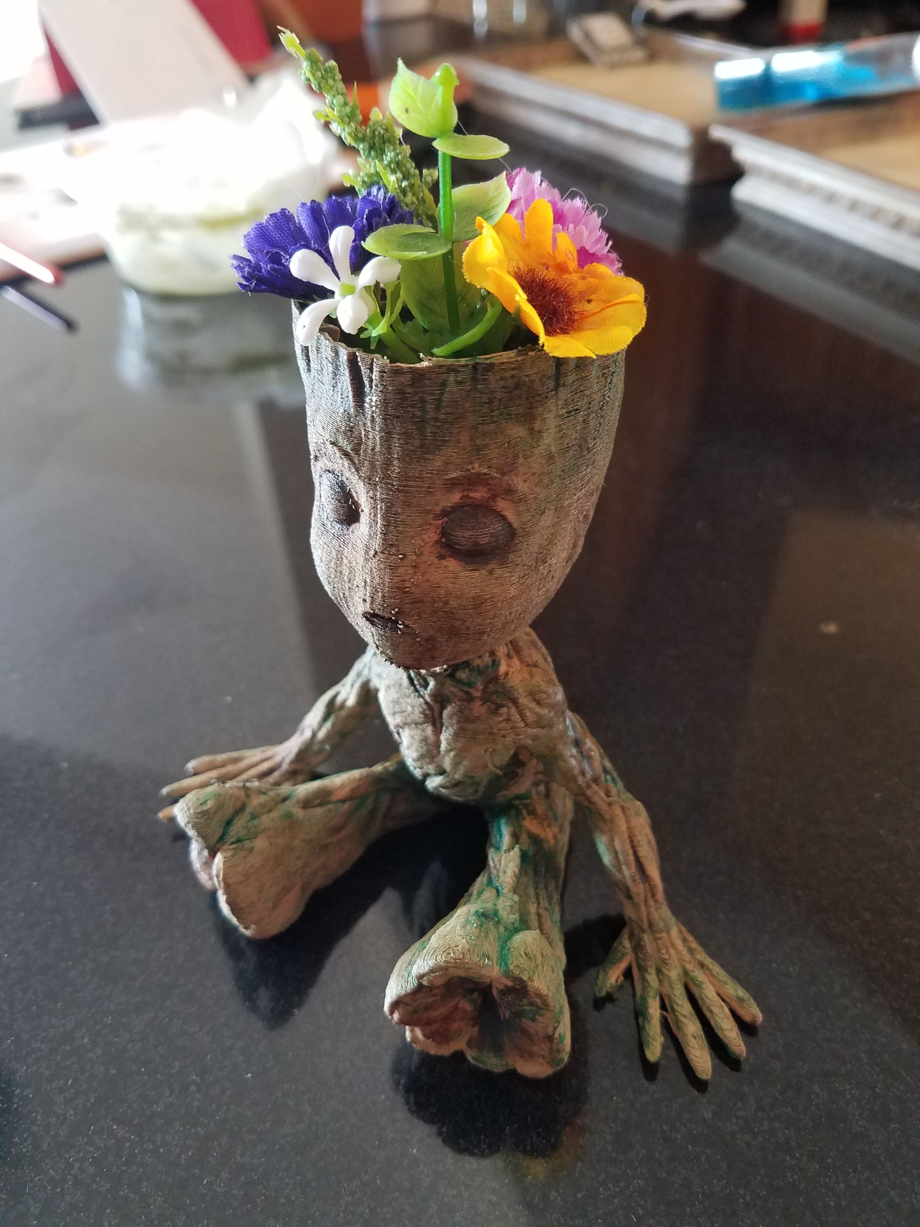 3d Printed Wooden Baby Groot Planter Guardians Of The Galaxy