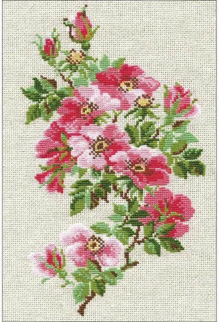 Riolis Scottish Heather Flowers Cross Stitch Kit Rose Cross Stitch Pattern Cross Stitch Patterns Free Cross Stitch Rose