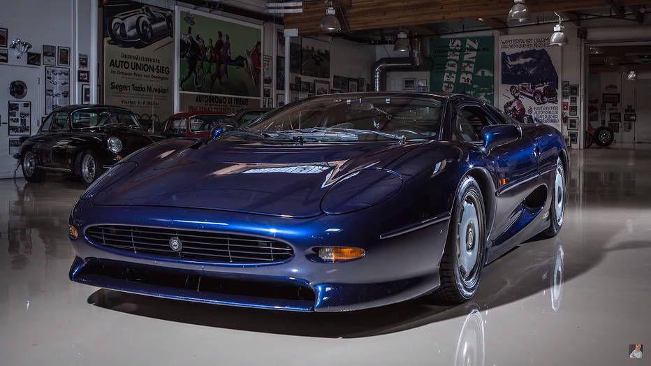 jay leno s garage features the jaguar xj220 supercar throwback rh pinterest com