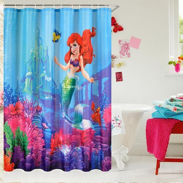 The Little Mermaid Ariel Shower Curtain Mermaid Bathroom Decor