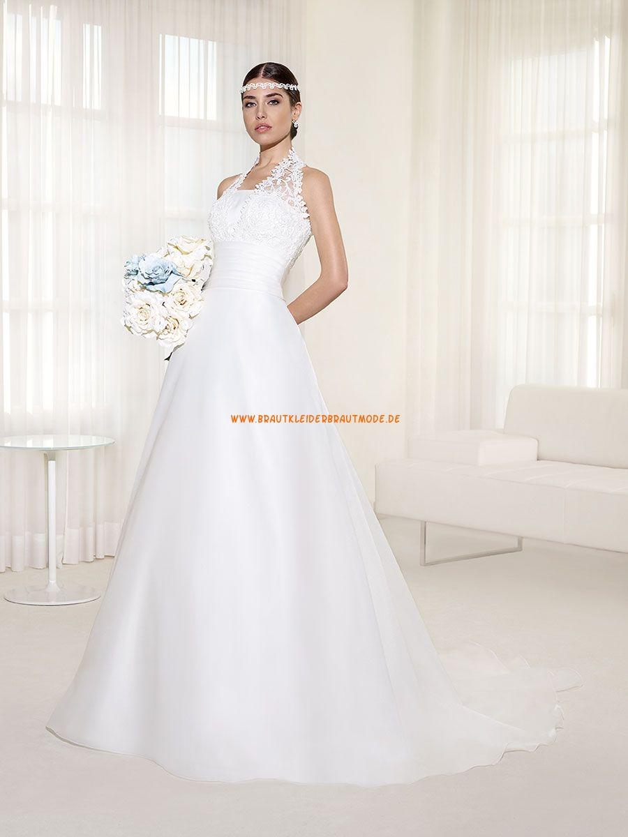 A Linie Ausgefallene Hochzeitskleider Aus Organza Hochzeit