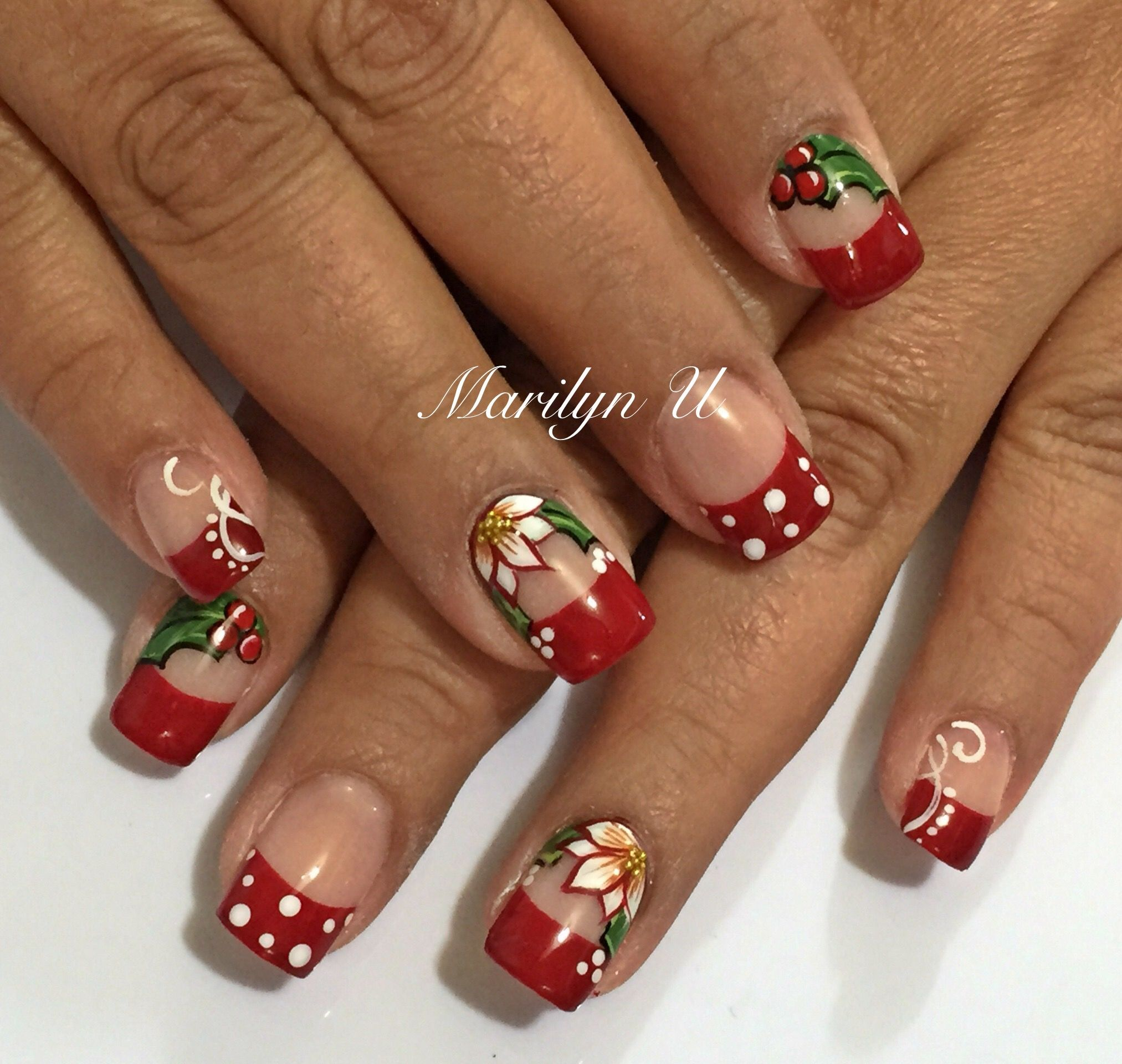 Pin by Marilyn Ugalde on Navidad | Pinterest | Xmas nails and Manicure