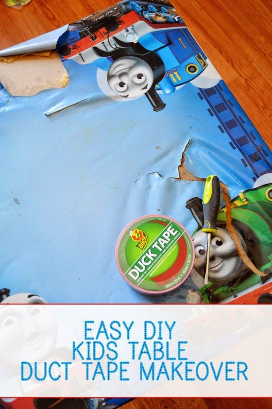 A Modern Day Fairy Tale Easy Diy Kids Table Duct Tape Makeover A