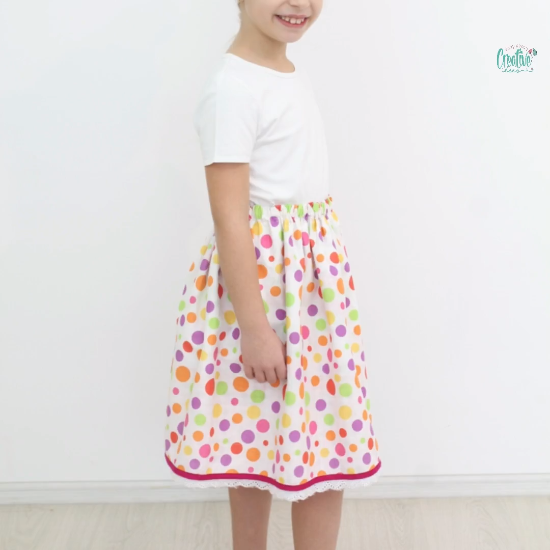 Photo of REVERSIBLE SKIRT SEWING TUTORIAL