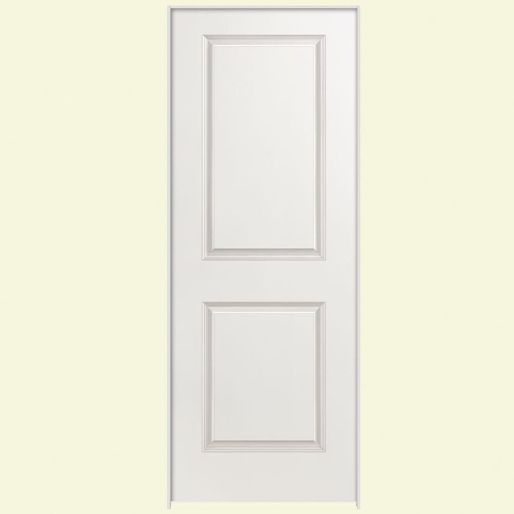 Masonite 32 In X 80 In Solidoor 2 Panel Square Top Right Handed Solid Core Smooth Primed Composite Single Prehung Interior Door 19198 The Home Depot Prehung Interior Doors Doors Interior 2 Panel Interior Door