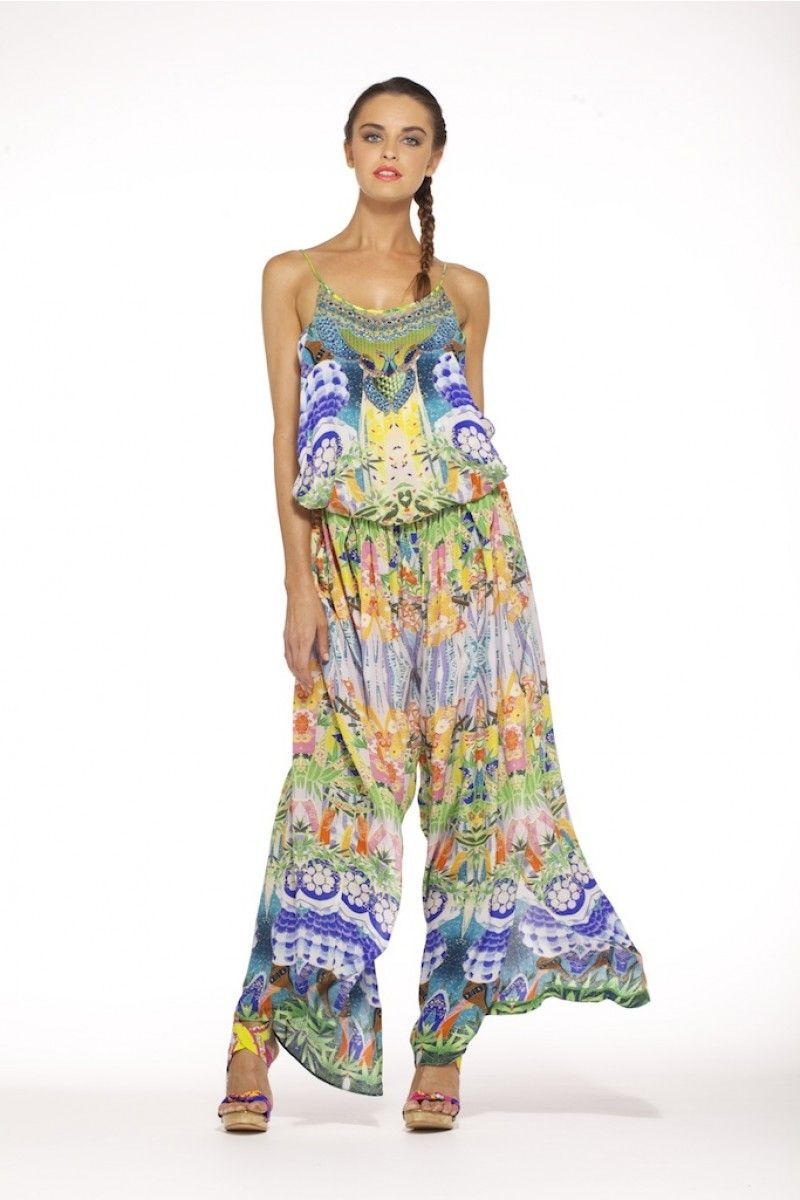 camilla- ISLAND SONG SHOESTRING STRAP JUMPSUIT