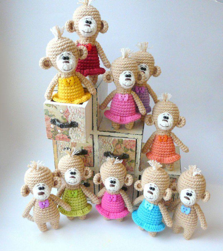 Amigurumi crochet patrón mono libre | Amigurumi | Pinterest ...
