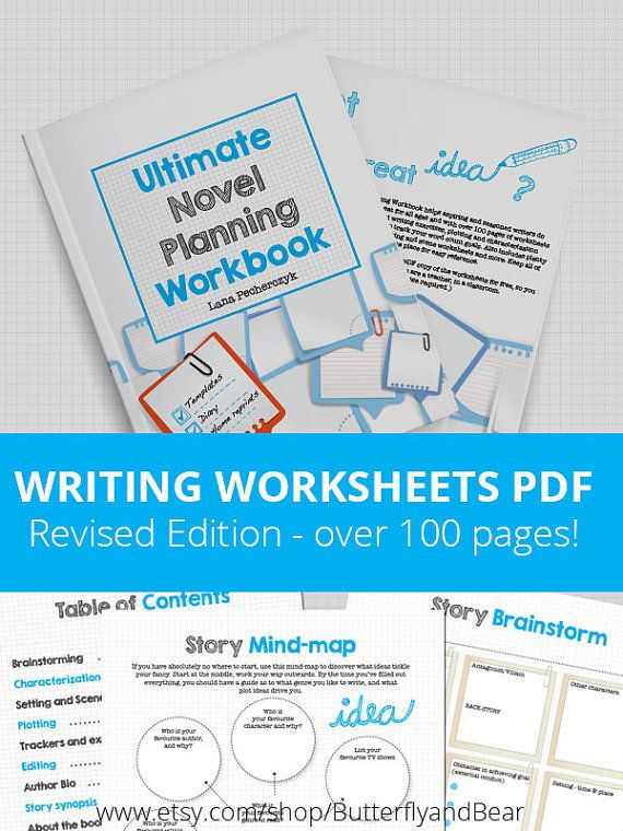 photo regarding Novel Planner Online Free named Greatest Novel Coming up with Workbook - Printable worksheets