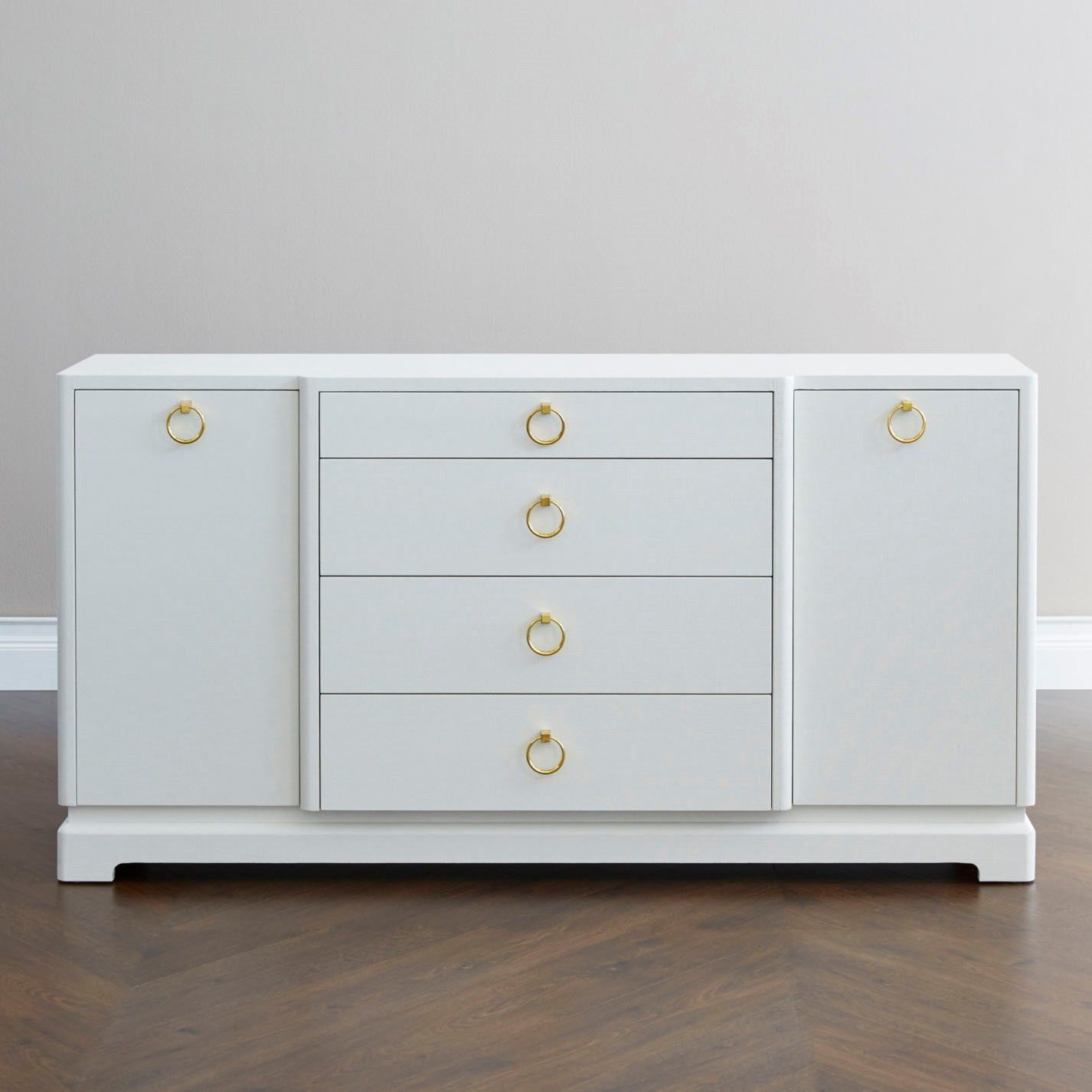 Bungalow 5 Pavel 4 Drawer & 2 Door Cabinet  White