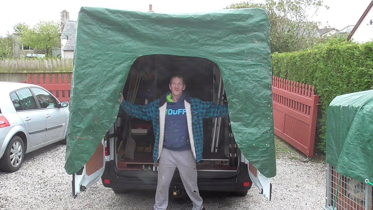 Work Van Back Door Canopy Back Door Canopy Van Tent Camping Canopy