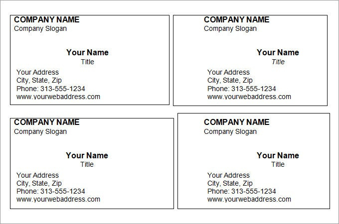 44 Free Blank Business Card Templates Ai Word Psd In Unique Plain Busi In 2020 Free Printable Business Cards Free Business Card Templates Printable Business Cards
