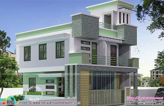 Kerala Home Design And Floor Plans Modern House Designs 2bhk House Plan Kerala House Design House Plans