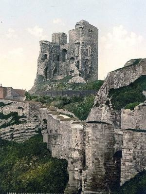 Scarborough, the castle, Yorkshire, England by riczkho encompassing the Iron Age settlement, Roman Signal Station and Anglo-Scandinavian settlement and chapel