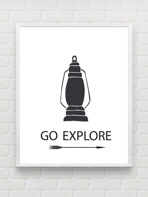 Printable nursery wall art go explore instant download arrow kidsroom print nautical print black