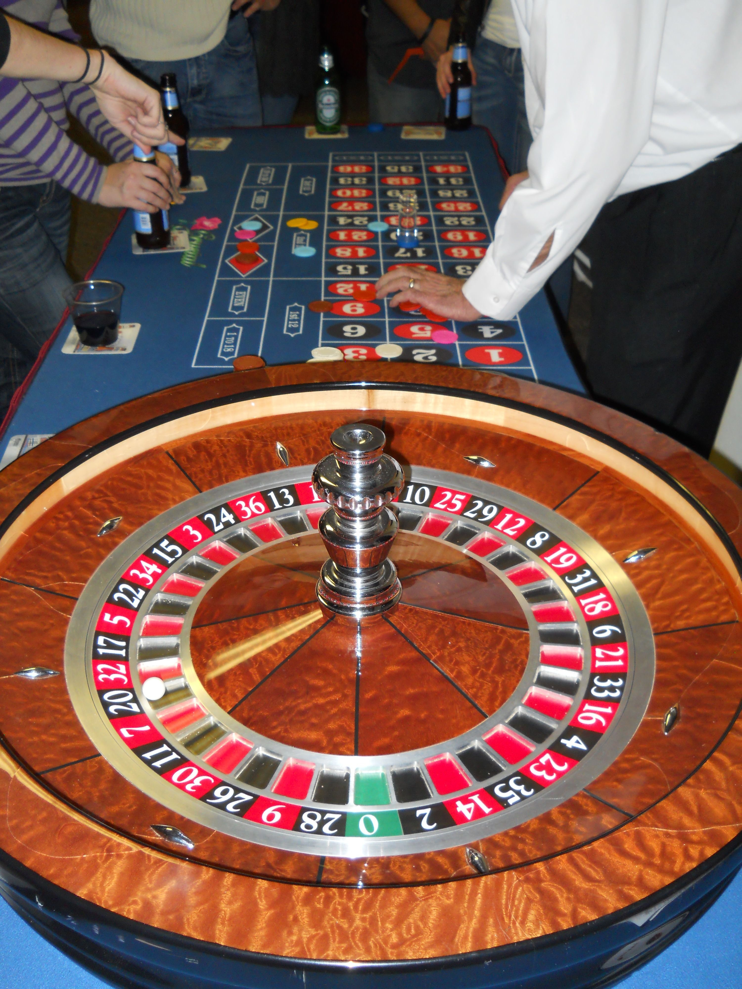 casino night roulette table casino night pinterest. Black Bedroom Furniture Sets. Home Design Ideas