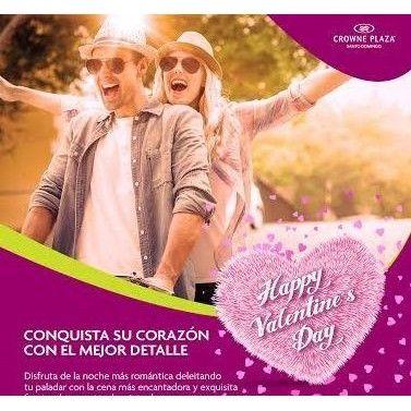 Se acerca San Valentín, celébralo con nosotros! #CrownePlazaRD #HotelenSantoDomingo  #Love #Amor #Amistad