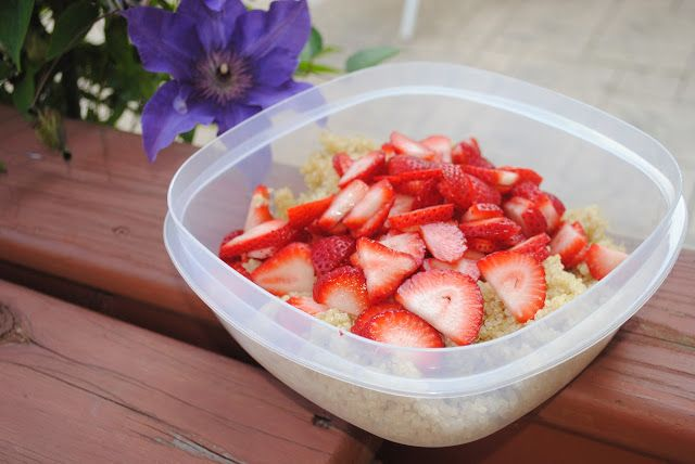 [Seasonal] Strawberry Feta Quinoa Salad | Fit Foodie Finds