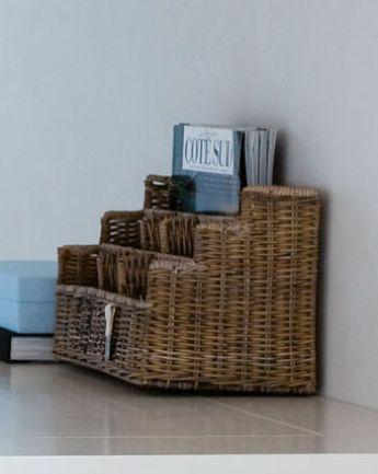 Verwonderlijk Rustic rattan bureau organizer | Riviera Maison - De Woonstee Tiel DD-38